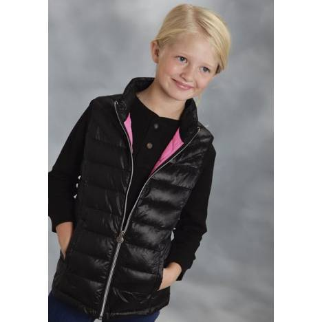 Roper Girls Parachute Crushable Down Vest - Black