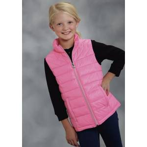 Roper Girls Parachute Crushable Down Vest - Pink