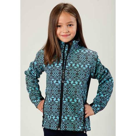 Roper Girls Technical Aztec Print Softshell Jacket