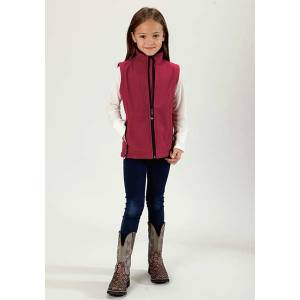 Roper Girls Technical Fleeve Softshell Vest - Pink