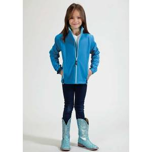 Roper Girls Technical Lightweight Softshell Jacket - Blue
