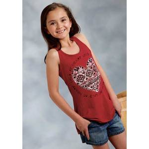 Roper Girls Wild At Heart Print Tank Top