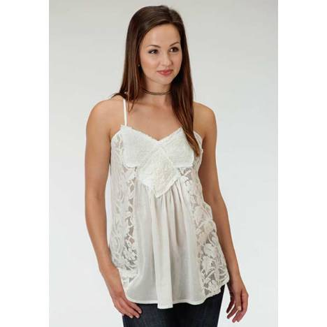 Roper Ladies Cotton Crepe All Over Lace Cami