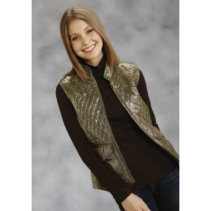 Roper Ladies Metallic Printed Vest