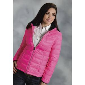 Roper Ladies Parachute Crushable Lightweight Hooded Jacket - Pink