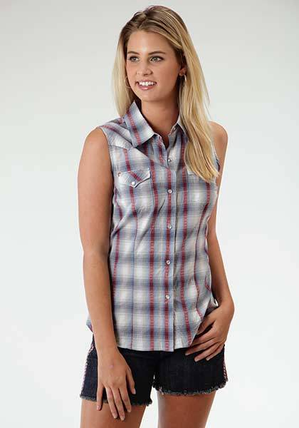 Roper Canyon Dobby Plaid Performance Collection