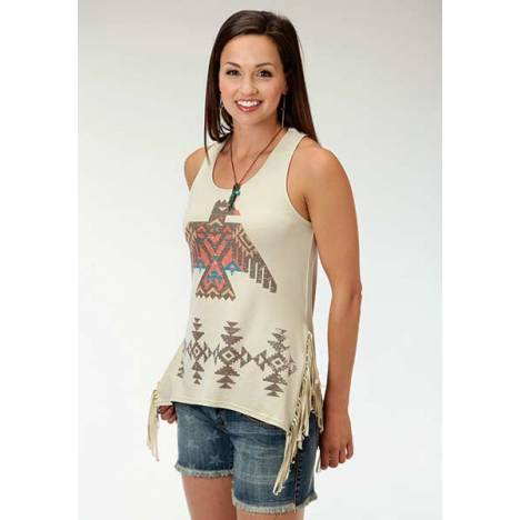 Roper Ladies Sweater Fringed Tank Top