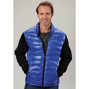 Roper Mens Parachute Down Fill Soft Sleeve Jacket - Blue