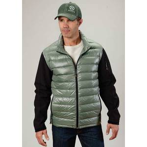 Roper Mens Parachute Down Fill Soft Sleeve Jacket - Green