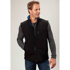 Roper Mens Technical Fleece Lined Softshell Vest
