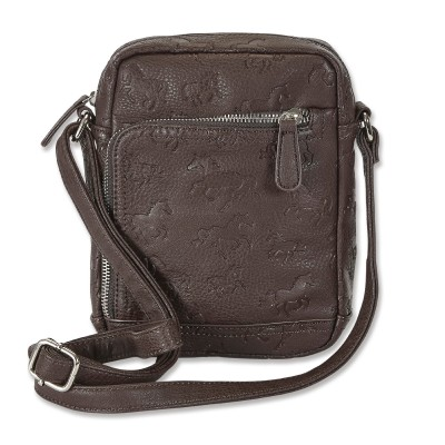 Kelley Debossed Horses Cross Body Purse