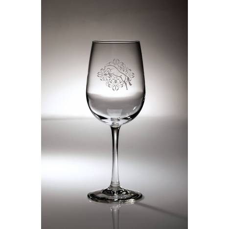 Kelley Jumper Floral Etched Wine Glass