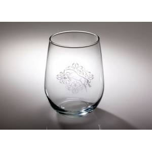 Kelley Jumper Floral Etched Stemless Wine Glass
