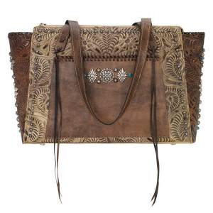 American West Rio Grande Zip Top Tote - Ladies