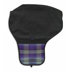 Kensington All Around Western Saddle Cover - Black with Lavender Mint