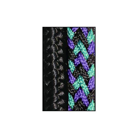 Kensington Rope Halter/Side Pull - Black with Lavender Mint