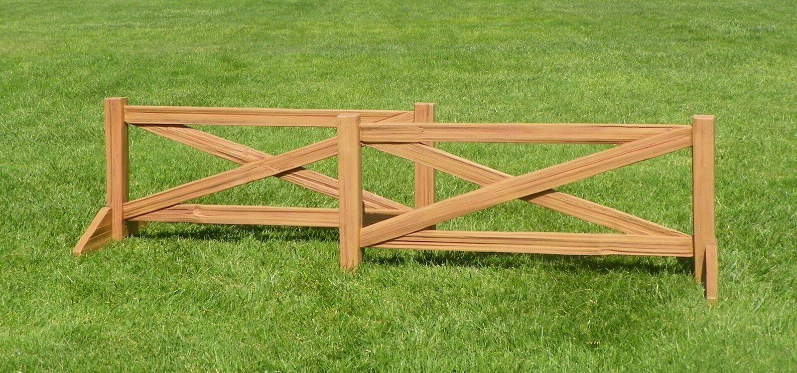 Burlingham Sports Cedar Split Rail Fence Set