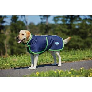 Weatherbeeta Parka 1200D Deluxe Dog Coat - Navy/Lime