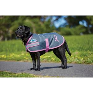 Weatherbeeta Parka 1200D Breast Cancer Foundation Dog Coat - Charcoal/Pink