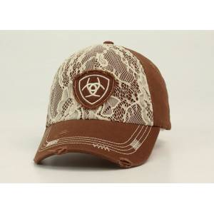 Ariat Ladies Velcro Back Lace Front Logo Cap