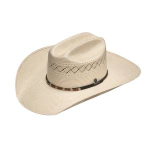 Ariat Mens 20X SS/Ss Rectangle Diamond Concho Band Western Hat
