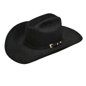 Ariat Mens 6X Fur Double S Crown 3 Pcs Buckle Band Western Hat