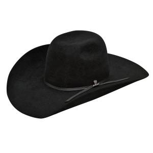 Ariat Mens 6X Fur Punchy Crown 2 Cord Band Western Hat