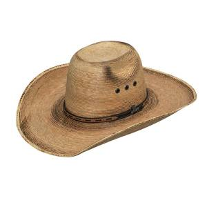 Ariat Mens Fired Palm Punchy Crown Cowboy Brim Western Hat
