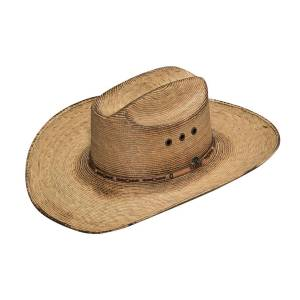 Ariat Mens Fired Palm SS Crown & Brim Copper Eyelet Western Hat