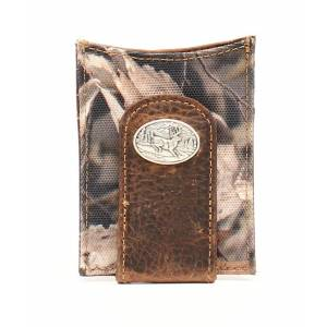 Ariat Mens Money Clip Bonz Camo Deer Concho Wallet