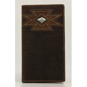 Ariat Mens Rodeo Stitched Cross Diamond Concho Wallet