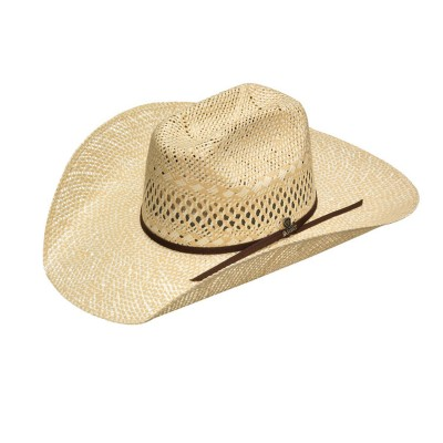 Ariat Mens Twisted Weave Maverick Crown Straw Western Hat