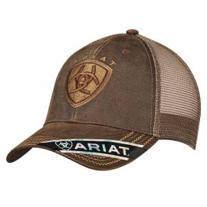 Ariat Mens Velcro Closure Oilskin Mesh Cap