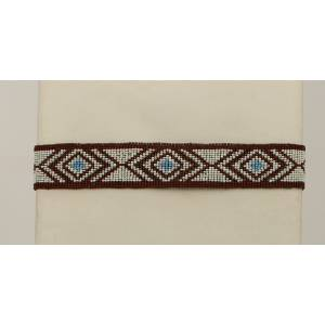Blazin Roxx Beaded Triangle Design Headband