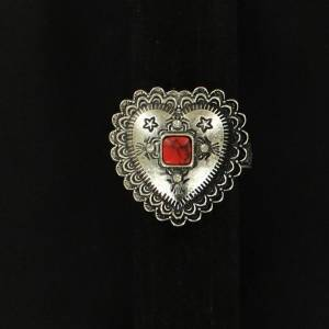 Blazin Roxx Engraved Heart Ring