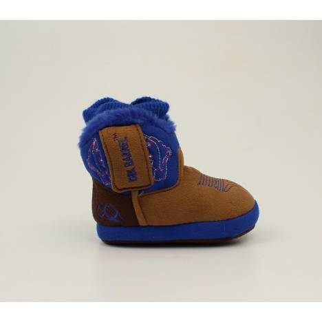 Double Barrel Infant Boys Multi Color Soft Bootie Slippers