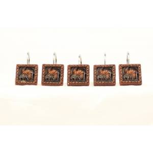Western Moments Cowboy Prayer Shower Curtain Hooks