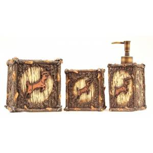 Western Moments Deer Soap/Tissue/Toothbrush Holder