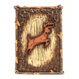 Western Moments Deer Waste Basket