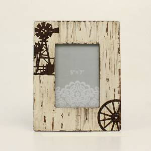 Western Moments Distressed Iv Windmill Wood Frame