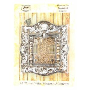 Western Moments Engraved Double Switch Plate