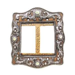 Western Moments Engraved Wide Double Switch Plate