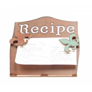 Western Moments Fleur Recipe Holder/Magnet