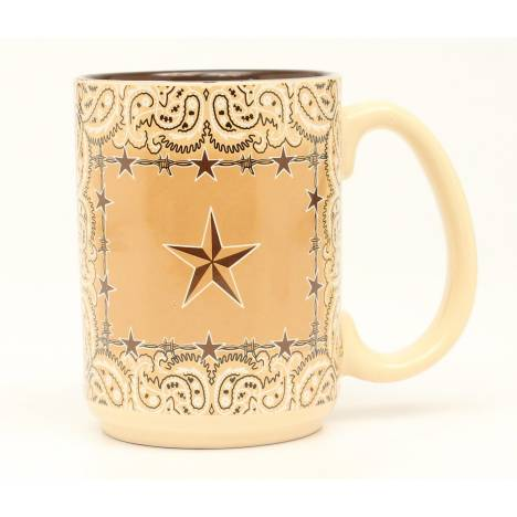 Western Moments Star And Barbed Wire Mug