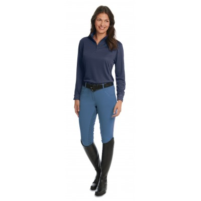 Ovation Euro Melange Full Seat X-Grip Breeches - Ladies