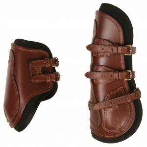 Majyk Equipe Leather/Buckle Fetlock Hind Jump Boot