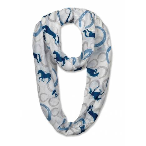 Kelley Horse Shoes & Horses Infinity Scarf