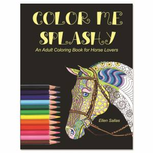 Kelley COLOR ME SPLASHY Adult Equestrian Coloring Book