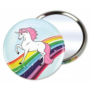 Kelley Unicorn Horse Pocket Mirror