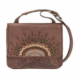 American West Bella Luna Multi-Compartment Crossbody Flap Bag